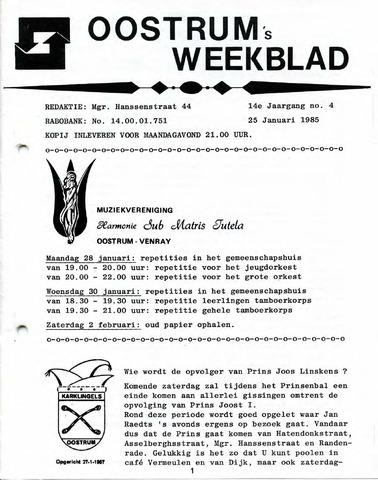 Oostrum's Weekblad 1985-01-25