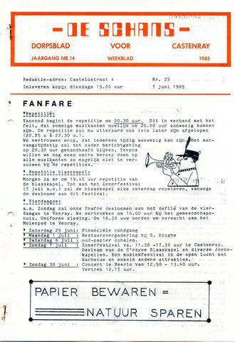 Castenrays dorpsblad De Schans 1985-06-07
