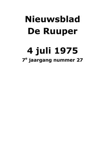 Dorpsblad Leunen-Veulen-Heide 1975-07-04