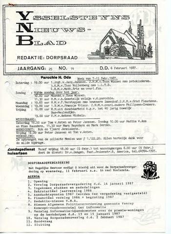 Ysselsteyns Nieuwsblad 1987-02-06