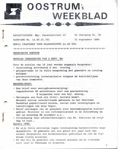 Oostrum's Weekblad 1980-09-11