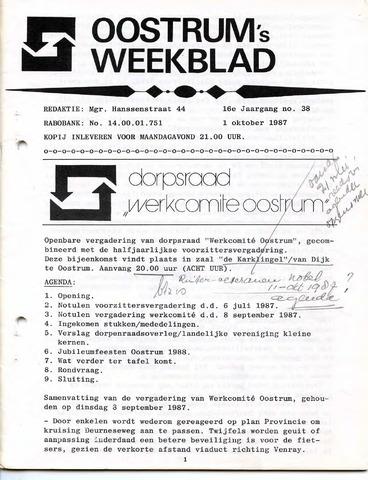 Oostrum's Weekblad 1987-10-01