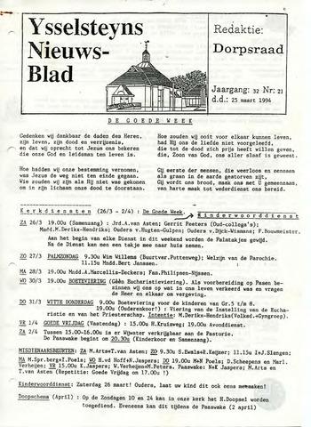 Ysselsteyns Nieuwsblad 1994-03-25