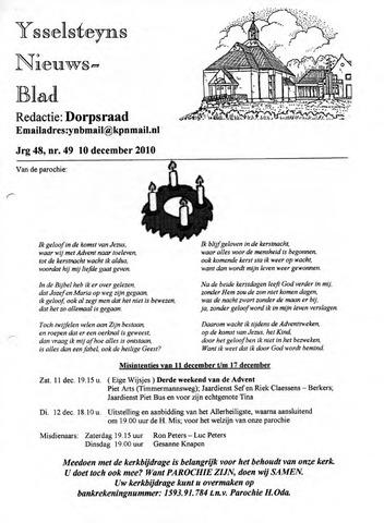 Ysselsteyns Nieuwsblad 2010-12-10