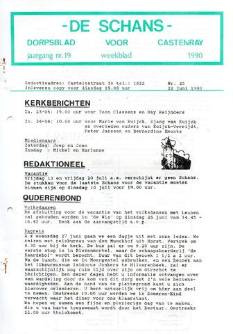Castenrays dorpsblad De Schans 1990-06-22