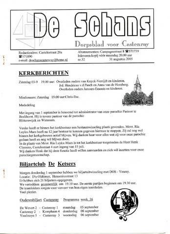 Castenrays dorpsblad De Schans 2005-08-31