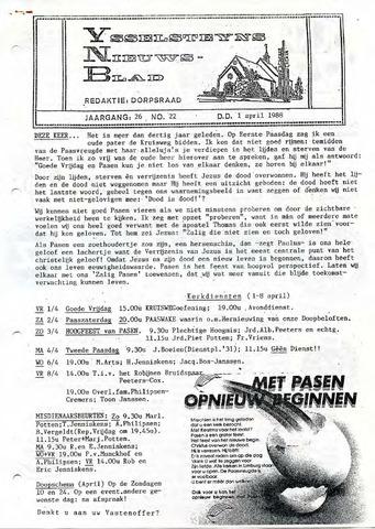 Ysselsteyns Nieuwsblad 1988-04-01