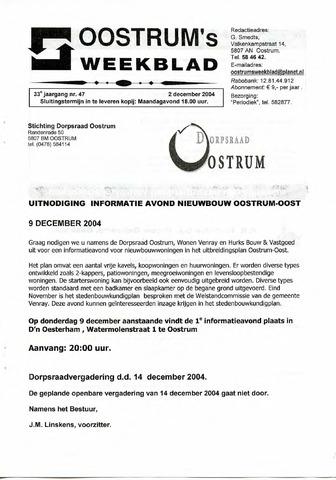 Oostrum's Weekblad 2004-12-02