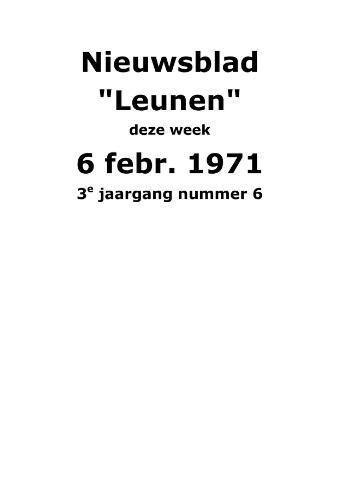 Dorpsblad Leunen-Veulen-Heide 1971-02-06