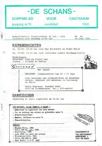 Castenrays dorpsblad De Schans 1990-06-15