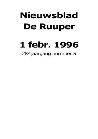 Dorpsblad Leunen-Veulen-Heide 1996-02-01