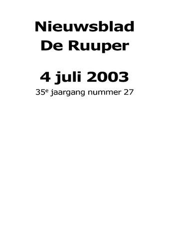 Dorpsblad Leunen-Veulen-Heide 2003-07-04