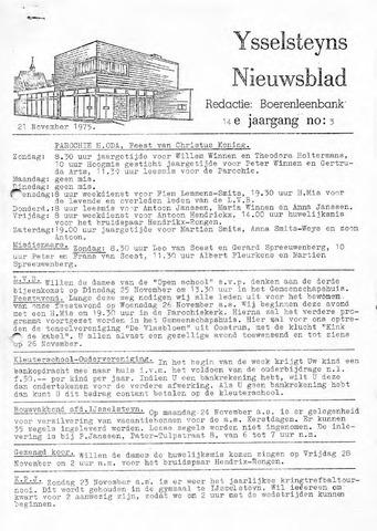 Ysselsteyns Nieuwsblad 1975-11-21