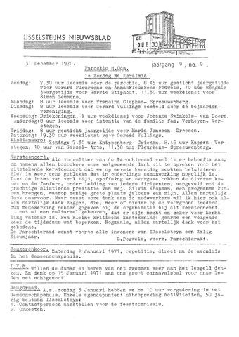 Ysselsteyns Nieuwsblad 1970-12-31