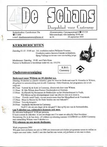 Castenrays dorpsblad De Schans 2005-09-28