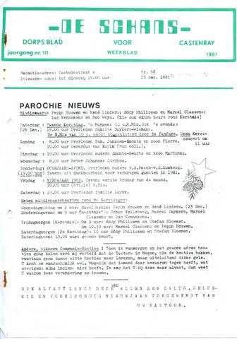 Castenrays dorpsblad De Schans 1981-12-23