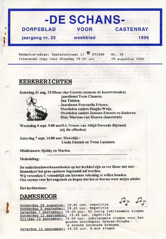 Castenrays dorpsblad De Schans 1996-08-29