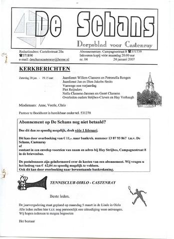 Castenrays dorpsblad De Schans 2007-01-24
