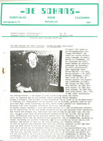 Castenrays dorpsblad De Schans 1981-04-24