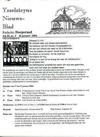 Ysselsteyns Nieuwsblad 2004-01-16