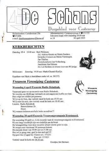 Castenrays dorpsblad De Schans 2005-04-06