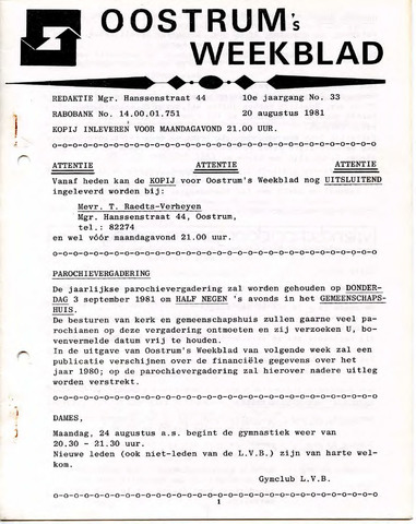 Oostrum's Weekblad 1981-08-20