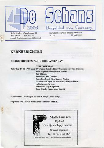 Castenrays dorpsblad De Schans 2003-06-11