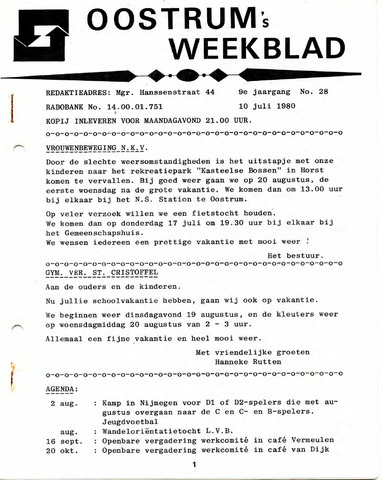 Oostrum's Weekblad 1980-07-10