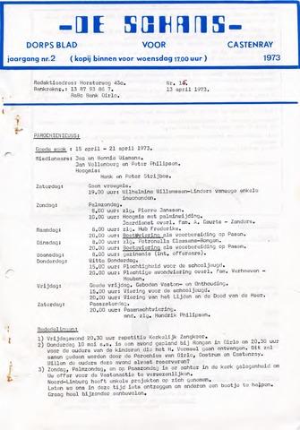 Castenrays dorpsblad De Schans 1973-04-13