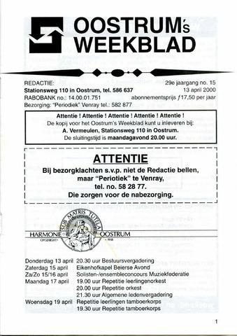 Oostrum's Weekblad 2000-04-13