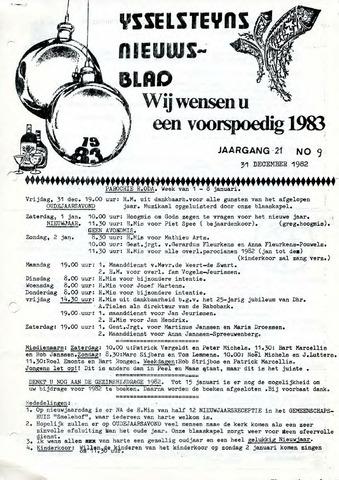 Ysselsteyns Nieuwsblad 1982-12-31