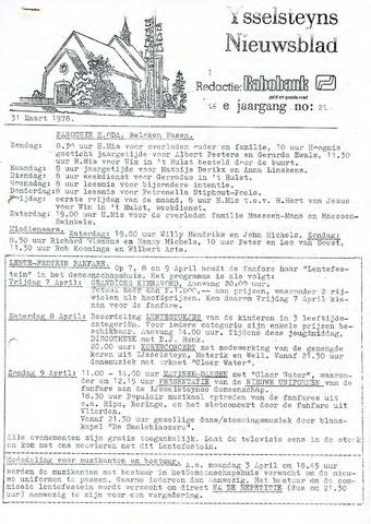 Ysselsteyns Nieuwsblad 1978-03-31
