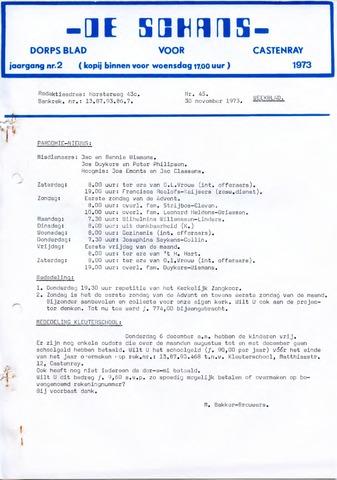 Castenrays dorpsblad De Schans 1973-11-30