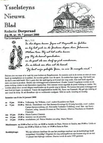 Ysselsteyns Nieuwsblad 2000-01-07