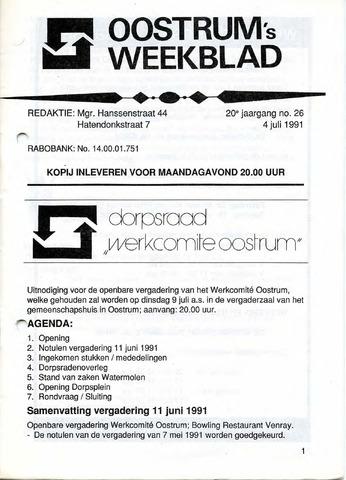 Oostrum's Weekblad 1991-07-04