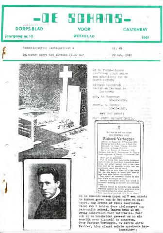 Castenrays dorpsblad De Schans 1981-11-20