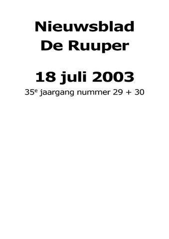 Dorpsblad Leunen-Veulen-Heide 2003-07-18