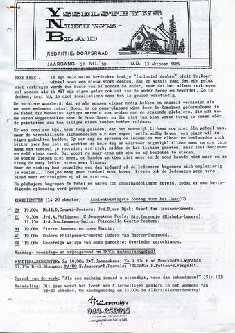 Ysselsteyns Nieuwsblad 1989-10-13