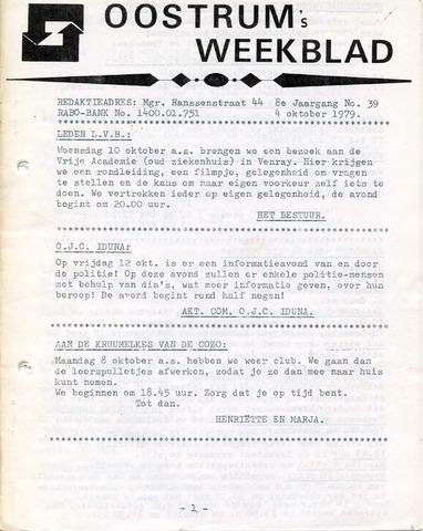 Oostrum's Weekblad 1979-10-04