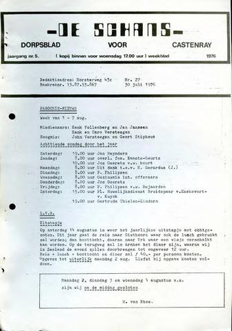 Castenrays dorpsblad De Schans 1976-07-30
