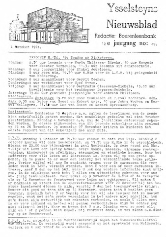Ysselsteyns Nieuwsblad 1974-10-04