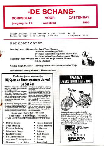 Castenrays dorpsblad De Schans 1995-09-01