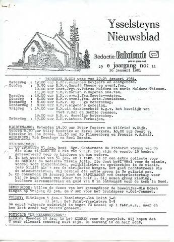 Ysselsteyns Nieuwsblad 1981-01-16