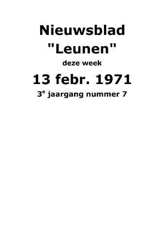 Dorpsblad Leunen-Veulen-Heide 1971-02-13