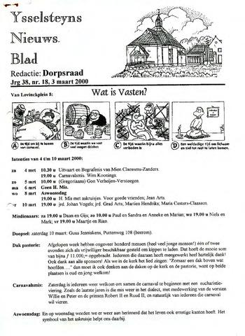 Ysselsteyns Nieuwsblad 2000-03-03
