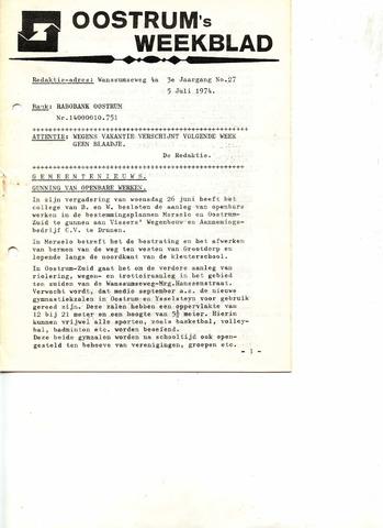 Oostrum's Weekblad 1974-07-05