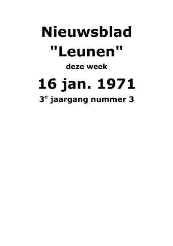 Dorpsblad Leunen-Veulen-Heide 1971-01-16