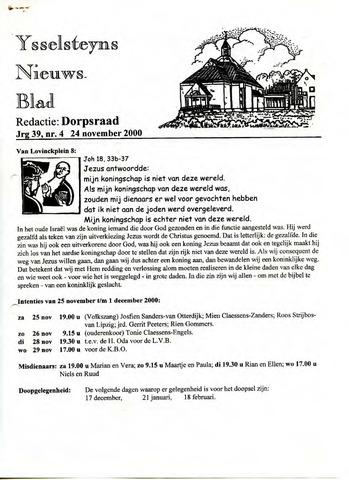 Ysselsteyns Nieuwsblad 2000-11-24