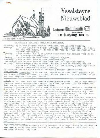 Ysselsteyns Nieuwsblad 1977-09-30