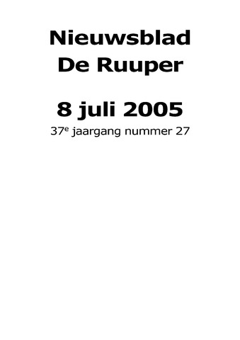 Dorpsblad Leunen-Veulen-Heide 2005-07-08